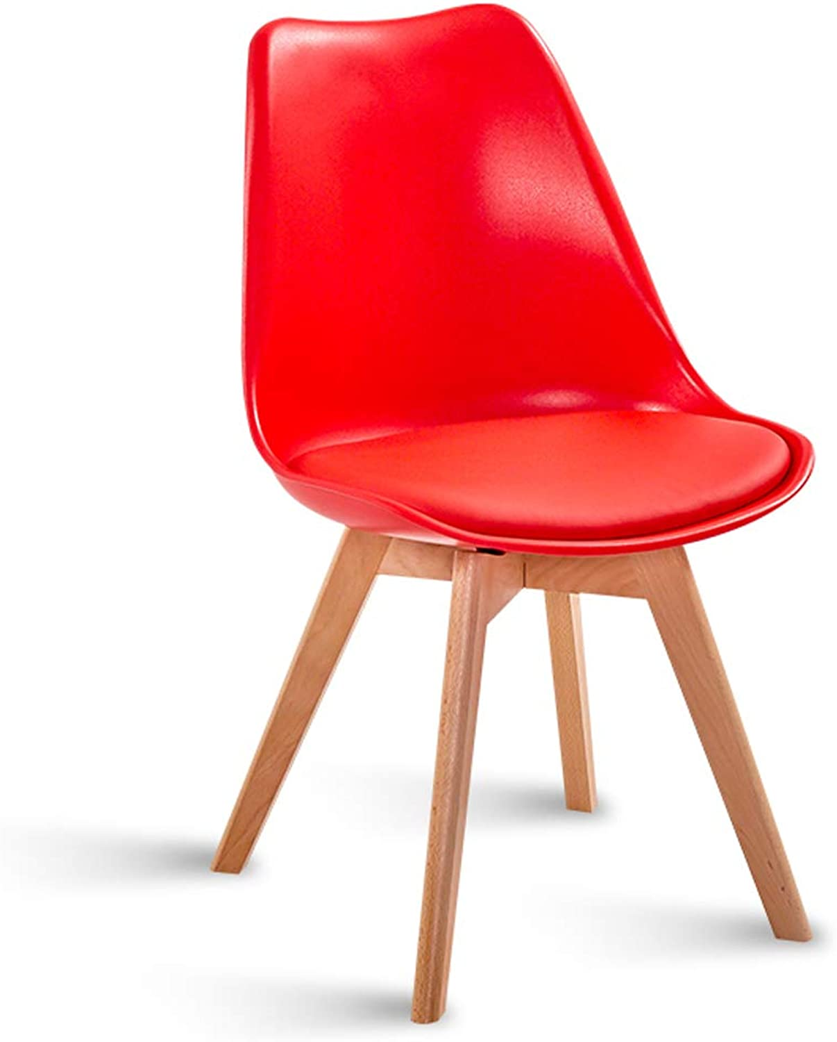 LRW Modern Creative Receptionist Office Chair Nordic Minimalist Dining Chair Back Chair Red