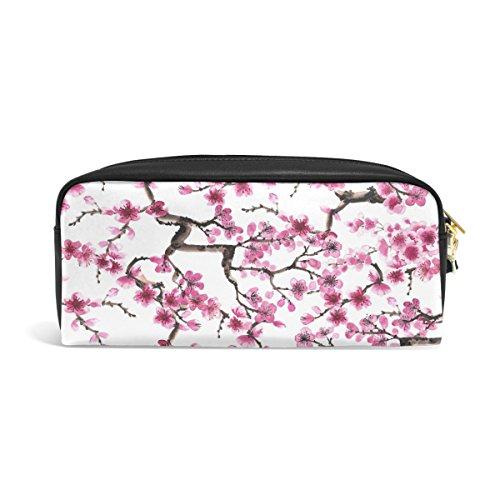 ZZKKO japanische Kirschblüte, Leder, Reißverschluß, Bleistift,