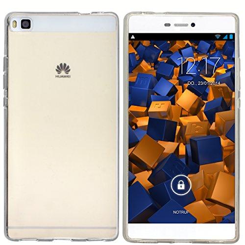 mumbi Hülle kompatibel mit Huawei P8 Handy Case Handyhülle, transparent weiss