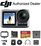 DJI OSMO Action with 64 GB Memory Card – Dual Touch Display Waterproof Digital Action Camera with 4K HD Video 12MP Photos Live Streaming Stabilization