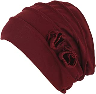 Boomly Turbantes Gorro Quimio Para Mujer Gorra Chemo Cancer Quimioterapia Pañuelos Musulmana De Algodón Suave Color Sólido...