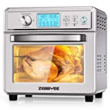 Zebbyee Convection Oven, 22.2QT Air Fryer Oven, 16-in-1 Toaster Oven Airfryer Combo, 1700W Stainless Steel Oven with Temperature Control, Thawing, Defrost, Dehydrate, 5 Accessories. ETL Certified (Renewed)