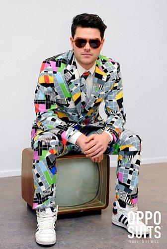 Testival Testbild Anzug bunt Slimline Herren 3-teilig Premium Gr 52