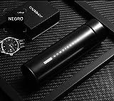 LIAN Botella de Agua de Acero Inoxidable, Pantalla LED Táctil Inteligente con Temperatura, para café, té (Negro)