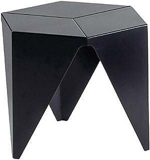 Table HUO, Designer en Plastique créatif Amovible Petite Basse Salon Petit Appartement d'appoint-47 * 47 * 38cm (Couleur :...