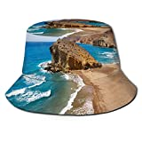 Gorras Paisaje Sombrero de Pescador Sombrero de Verano para el Sol Gorra de Cubo de Playa para Senderismo Camping Viajar Pesca