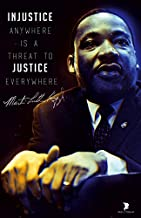 777 Tri-Seven Entertainment Martin Luther King Jr Poster Quote Injustice Anywhere is Threat to Justice Everywhere Art Print
