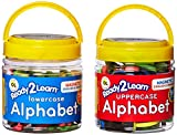 Center Enterprise Ready 2 Learn Magnetic Alphabet - Uppercase & Lowercase - 104 Letters - Kids Foam Letter Magnets for The Classroom, Refrigerator or White Board - Large Magnets for Better Attraction