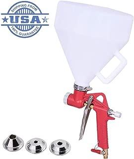 HolidayLife Air Hopper Spray Gun, 1.5 Gallon Paint Spraying Texture Spray Gun with Handle Gravity Feed Drywall 4/6/8mm Nozzle