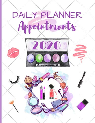 Daily Planner Appointments 2020: Diary Schedule Agenda Organiser for Mobile Hairdresser / Stylist / Beauty Therapist / Nail Technician - Hourly Slots / Gift Idea