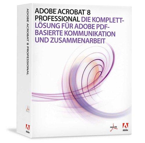 Adobe Acrobat 8 Professional Upsell von Adobe Acrobat Standard (Versionen 5, 6 und 7)