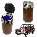 Oshotto High Temperature Portable Wooden Design Car Ashtray for Toyota Qualis