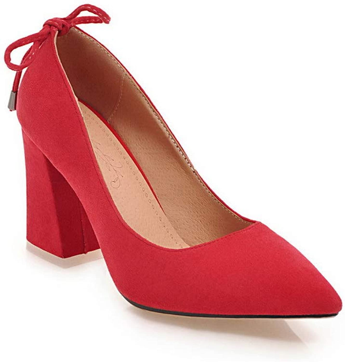 1TO9 Womens Solid Nubuck Structured Urethane Pumps shoes MMS06289