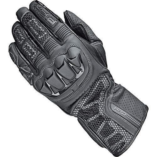 Held Motorradhandschuhe lang Motorrad Handschuh Air Stream 3.0 Handschuh schwarz (lange Finger) 10, Herren, Sportler, Ganzjährig, Leder