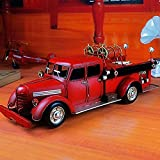 YANG1MN Vintage Iron Fire Trucks Model Ornaments Creative Home Accessories Bar Accessories 56.5 20.21cm Wind Industry