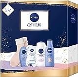 NIVEA Cosy Feeling Geschenkset, Set mit weichen Socken, Body Milk, Pflegedusche und Gesichtsmaske,...