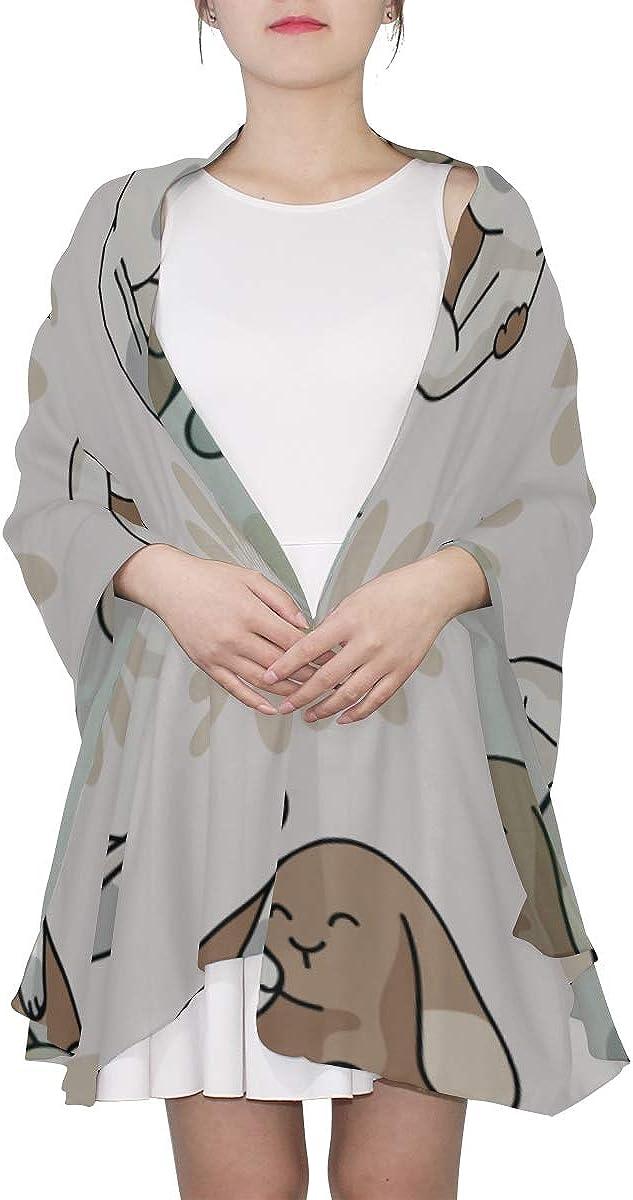 Neck Scarf For Women Lovely Cute Hug Rabbit Hare Mens Scarfs Lightweight Scarfs For Women Lightweight Print Scarves Lightweight Fashion Scarfs For Women Beautiful Scarfs For Women