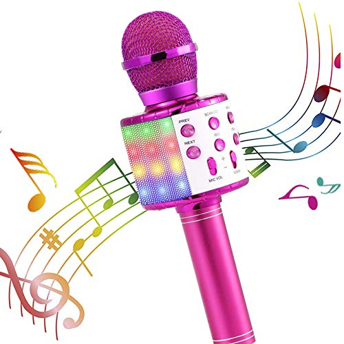 Microphone Gift Age 5-12 Girls Children, Singing Microphone Machine Toy for...