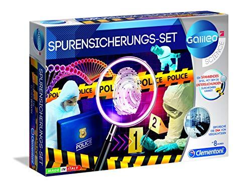 Clementoni 59125 Galileo Science – Spurensicherungs-Set, spannendes Kriminal-Labor für Fingerabdrücke &...