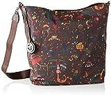 piero guidi Hobo Bag Reversible, Borsa a Spalla Donna, Marrone (Caffe'), 32.0x35.0x13.0 cm (W x H x L)