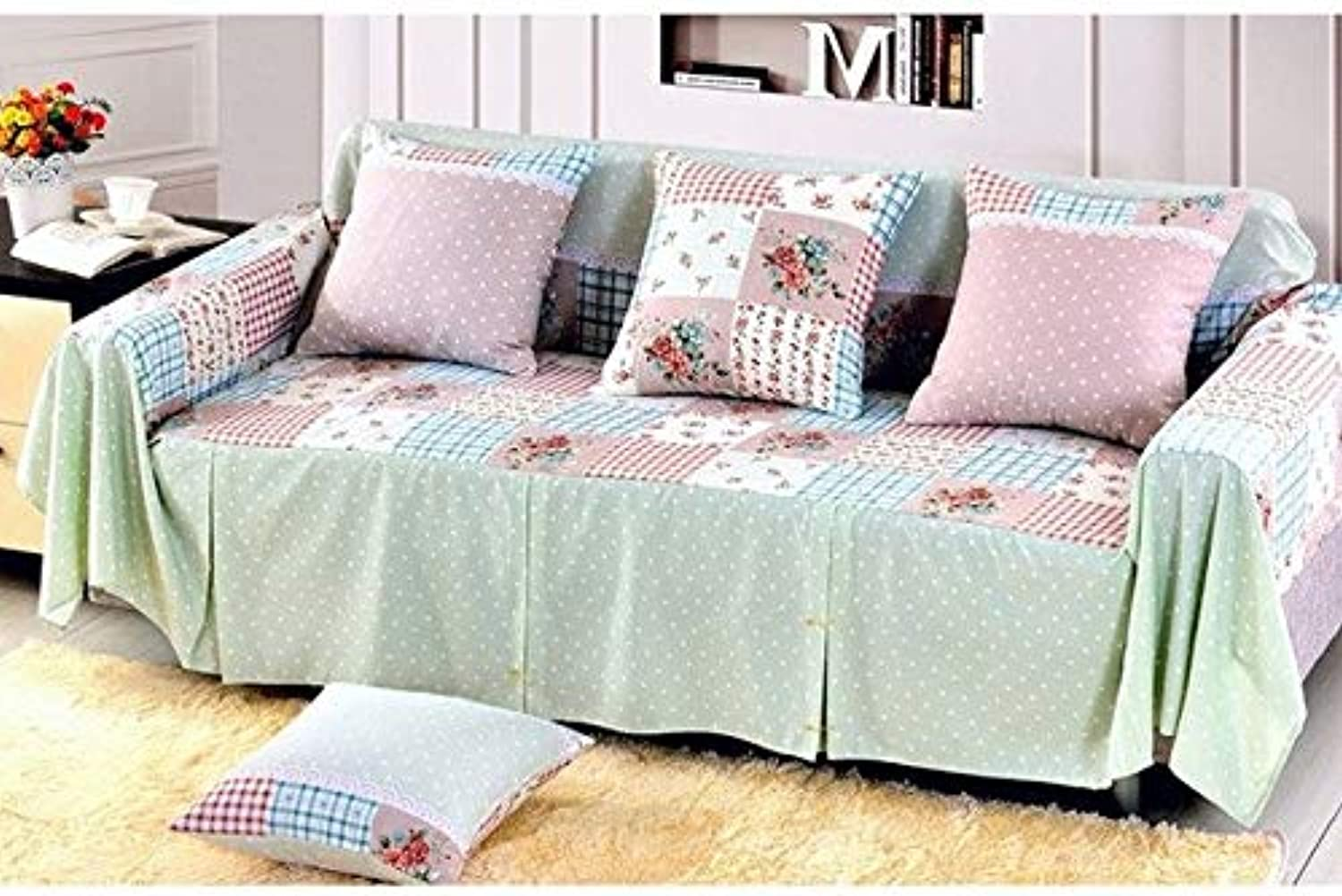 Cotton Sofa Towel Single Two Three Four-Seater Sofa Covers Slip-Resistant Plaid Couch Cover for Living Room Sofa Bed Home Decor   07, 200x200cm