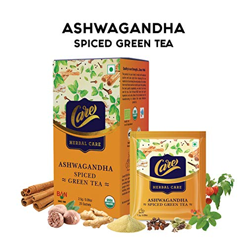 Care Ashwagandha Spiced Green Tea for Weight Loss