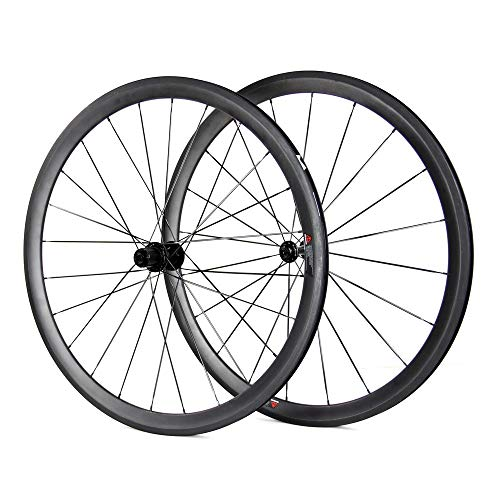 LADMYTH 38mm Full Carbon Road Bike Wheels Radsport Rennrad Drahtreife Fahrradräder Ultra Light 700c Clincher UD Matt