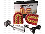 Connix LED Magnetic Wireless Towing Light Kit Farm Tractor 7 Pin Round Connector Baler, Wagon, Mower, Trailer.