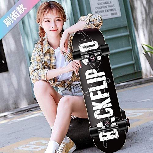 Monopatín Longboard Cruiser Completo Skateboard Longboard patín completo del crucero de 7 capas de arce cubierta de 31,5 pulgadas trucos del patín de la calle Junta de cepillo crucero for los adolesce
