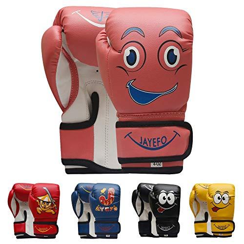 Jayefo Kids Boxing Gloves (Black, 4 OZ)