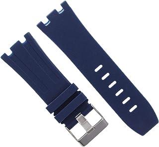28mm Ap Rubber Band Strap Compatible with 42mm Audemars Piguet Royal Oak Offshore 15703 Blue
