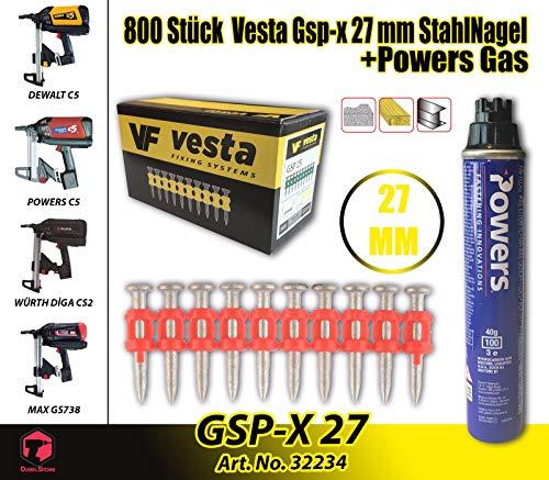 Vesta C5-27 XG MM - Clavadora de gas, Würth DIGA CS-2, DeWalt C5, Powers C5, maxGS73