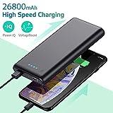 Ekrist Batterie Externe 26800mAh【Charge Rapide】 Power Bank Chargeur Portable Batterie de Secours...