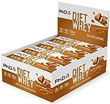 PhD Nutrition Diet Whey Bars, Barritas Nutricionales de Suero para Dietas Altas en Proteínas, Bajas en Azúcar, Bajas en Carbohidratos con Sabor Caramelo con Sal (Caja de 12 x 65g)