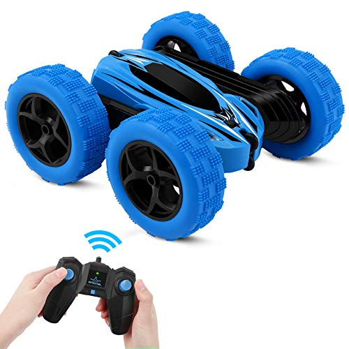 Sylanda 2.4Ghz Radio RC Auto, Wiederaufladbar RC Stunt Auto Rennauto mit Fernbedienung, High Speed Ferngesteuertes Auto für Kinder ab 6