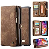 Galaxy A70 Wallet Case,Bpowe Zipper Purse Leather Shockproof TPU...