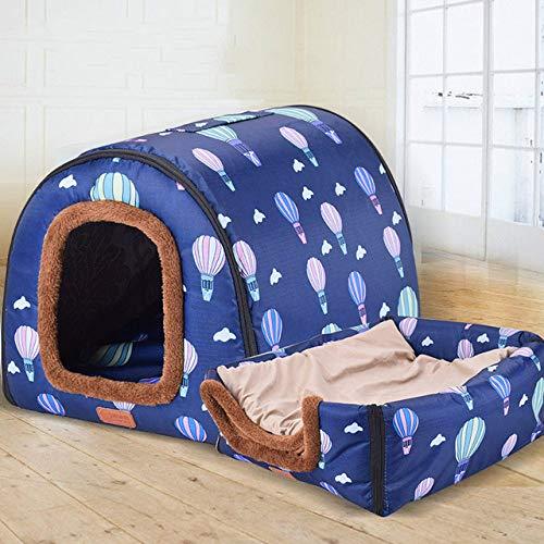Kennel LKU Pet grote hondenhok volledig schoon te maken hondenkennel cilinder draagbare hondenhok golden retriever kennel, zoals afgebeeld, S