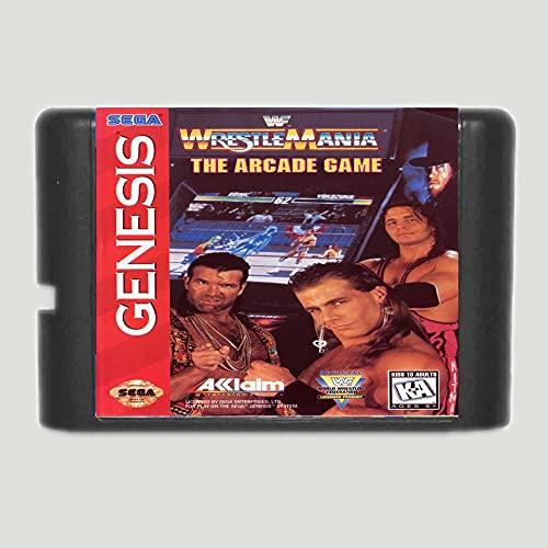 Spire WWF Wrestle Mania The Arcade Game 16 bit MD Game Card For Sega Mega Drive For Genesis