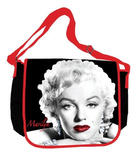 Silber Buffalo xx6101mb Radio Tagen Marilyn Monroe Nahaufnahmen 15Zoll von 12Zoll Messenger Bag, Mehrfarbig