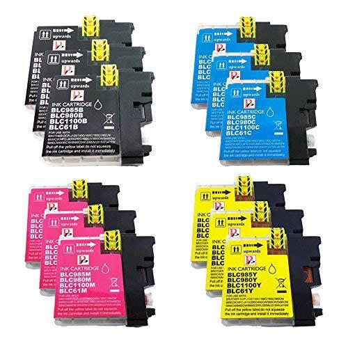 12 Alta Capacità fratello LC1100 LC980 LC 1100 LC 980 Cartucce di inchiostro compatibili per Brother MFC-250C MFC-255CW MFC-290C MFC-295CN MFC-297C MFC-490CN MFC-5490CN MFC-5890CN MFC-790CW