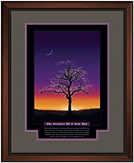 Successories 732676 The Essence of A New Day Motivational Poster with Walnut Wood in 1.5