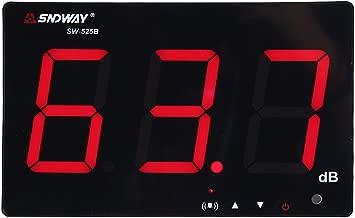 Medidor de Sonido Medidor de Ruido Decibelímetros Portátil Conservar Datos Automáticamente y Alarma, Digital Sound Level Meter con Pantalla LCD Rango de Medición 30db-130db