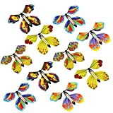 circulor-123 Flying Butterfly Magic Toy para Niños Magic Fairy Flying In The Book Mariposa Goma De Goma Powered Wind Up Butterfly Toy Gran Regalo Sorpresa