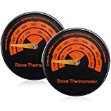 Magnetic Stove Thermometer Wood Burner Top Thermometer Stove Temperature Meter Stove...