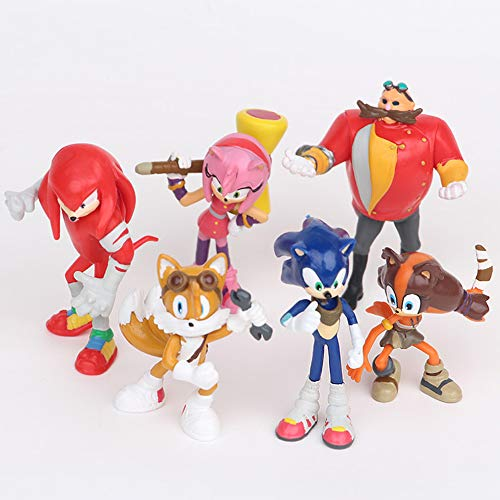 ATIN 6 Pcs Character Cake Toppers Cute Toys Birthday Gift Set,Decorations, Collectibles, Christmas, Decorations Ornaments (Type 2)