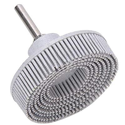 3Inch Bristle Disc Emery Rubber Abrasive Brush Deburring Polishing Grinding Wheel(White 120#)