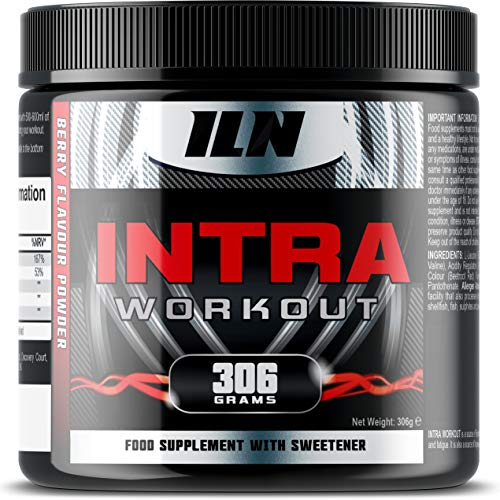 Intra Workout - Caffeine-Free Intra-Workout Drink with 15,000mg of BCAAs, Magnesium and Pantothenic Acid - Berry Flavour Intra Workout Powder (306 Grams)