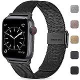 Wepro Ersatzarmband Kompatibel mit Apple Watch Armband 44mm 42mm für Damen/Herren, Klassisches Mesh...