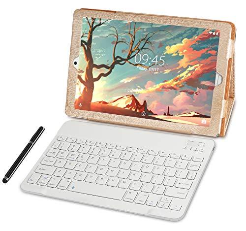 Tablet 10.1 Pulgadas YESTEL Android 8.1 Tablets con 3GB RAM & 32GB ROM y 4G LTE Dual SIM Call, 5.0 MP + 8.0 MP HD la Cámara y 8000mAH-Dorado
