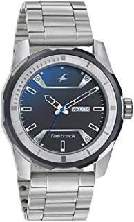 Fastrack Men's's Multicolour Dial Color Stainless Steel Strap Watch - 3166KM01